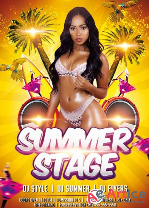 Summer Stage V1 PSD Flyer Template