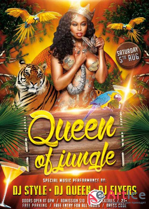 Queen of Jungle PSD Flyer Template