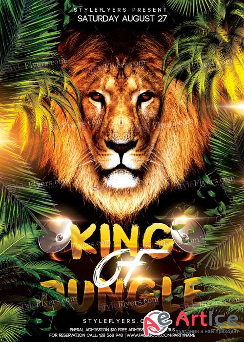 King Of Jungle V3 PSD Flyer Template