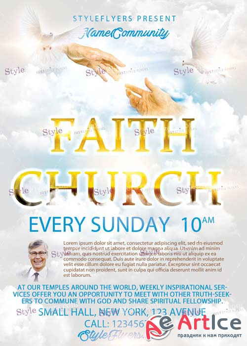 Faith Church V6 PSD Flyer Template