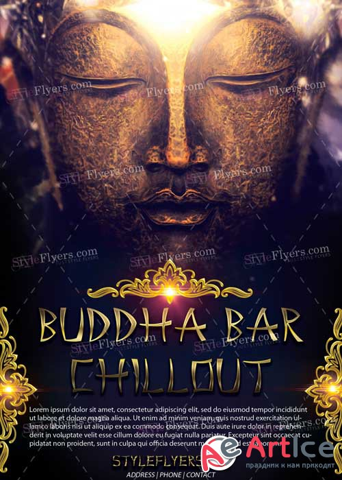 Buddha Bar Chillout V1 PSD Flyer Template