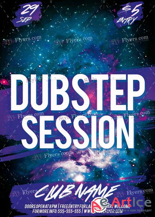 Dubstep Session V3 PSD Flyer Template