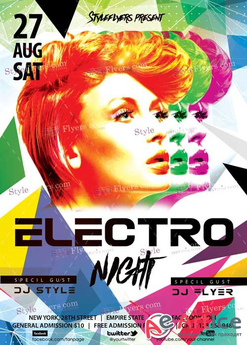 Electro Night V7 PSD Flyer Template