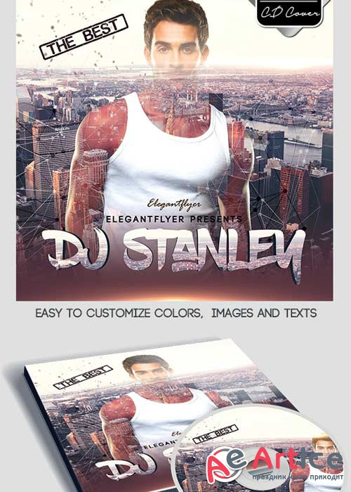 DJ Stanley CD Cover PSD Template