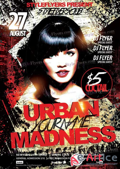 Urban Madness PSD Flyer Template
