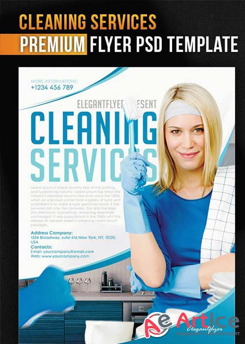Cleaning Services V5 Flyer PSD Template + Facebook Cover