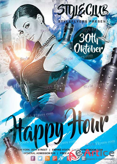 Happy Hour V6 PSD Flyer Template