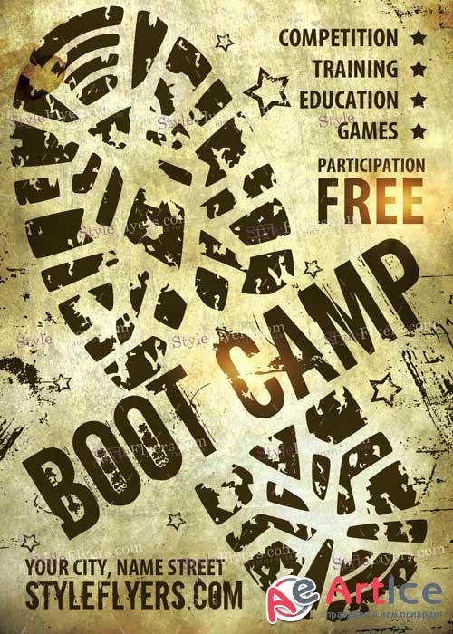 Boot Camp V1 PSD Flyer Template