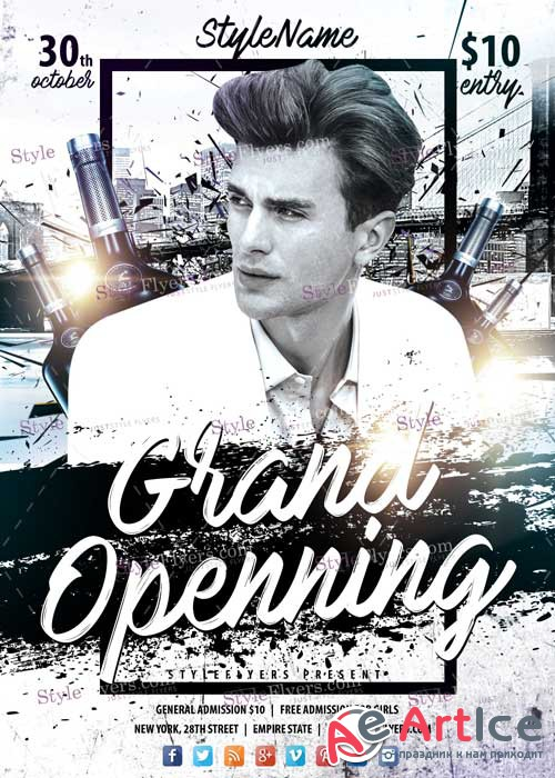 Grand Opening V14 PSD Flyer Template