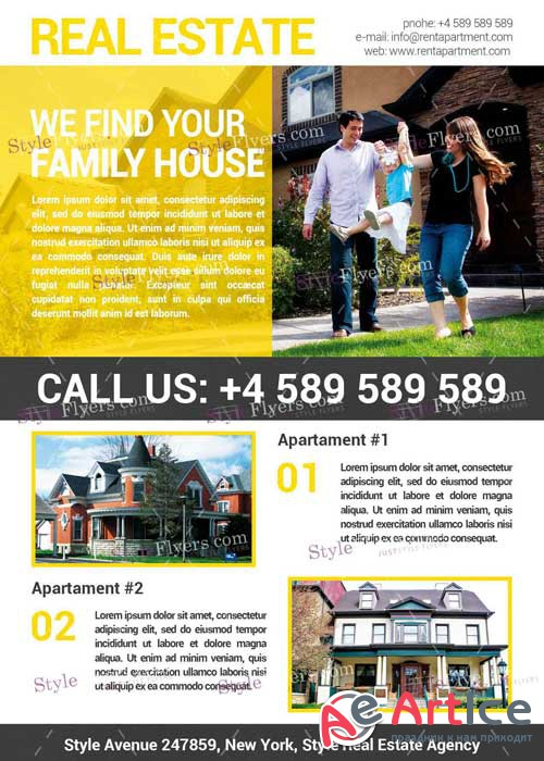 Real Estate V15 PSD Flyer Template
