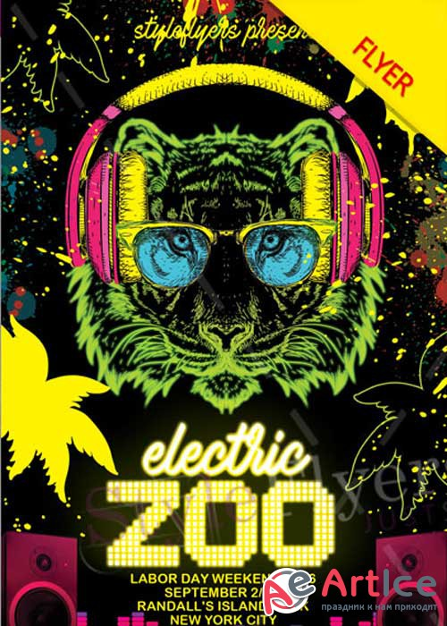 Electriczoofestival PSD V12 Flyer Template