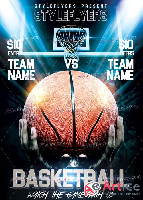 Basketball PSD V9 Flyer Template