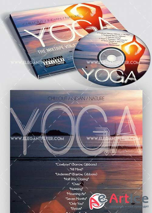 Yoga CD Cover PSD V4 Template