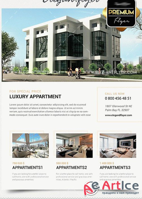 Your Apartments Premium PSD V8 Template + Facebook cover