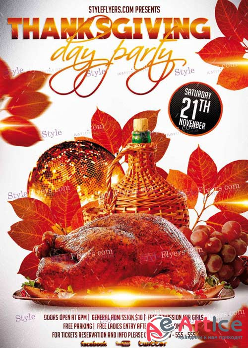 Thanksgiving Day PSD V9 Flyer Template