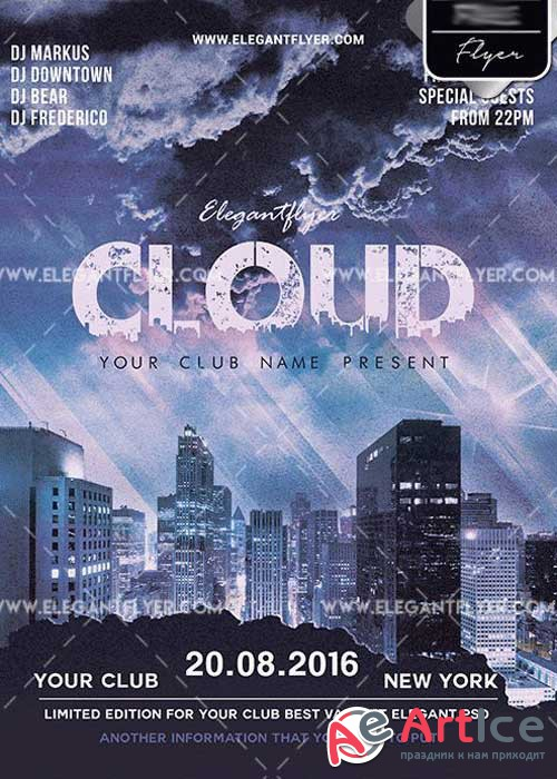 Cloud City V1 PSD Template + Facebook cover