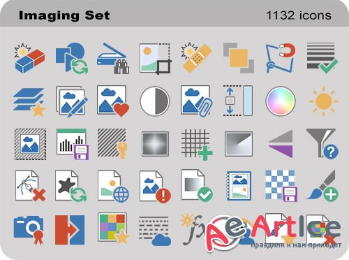 Imaging Set - Pure Flat Toolbar Stock Icons