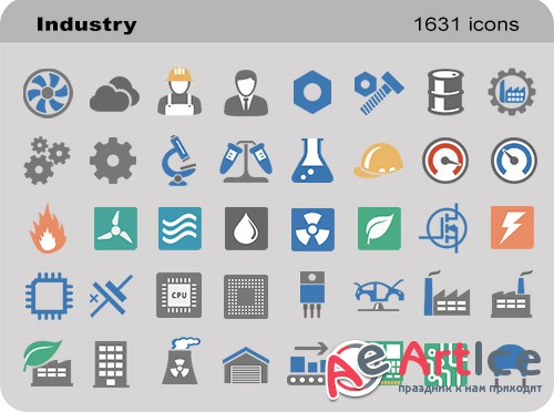 Industry Set - Pure Flat Toolbar Stock Icons