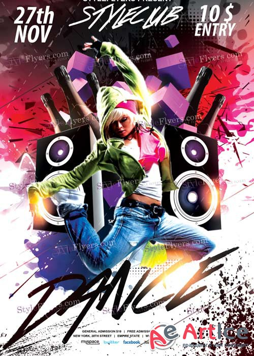 Dance V11 PSD Flyer Template