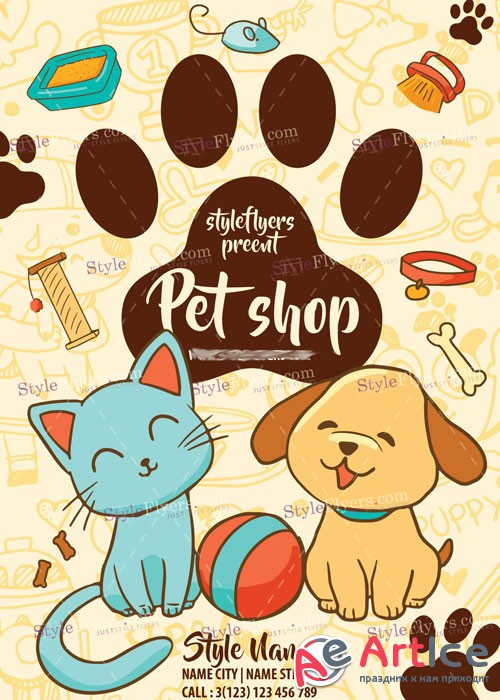Pet Shop PSD V14 Flyer Template