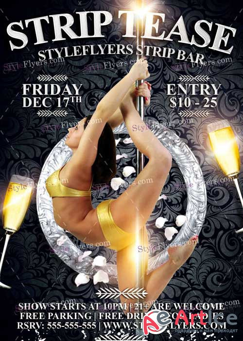 Strip Tease PSD V1 Flyer Template