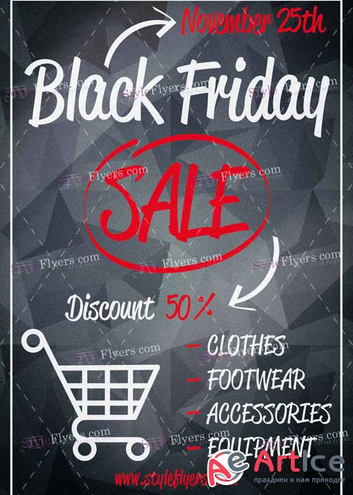 Black Friday Sale PSD V13 Flyer Template