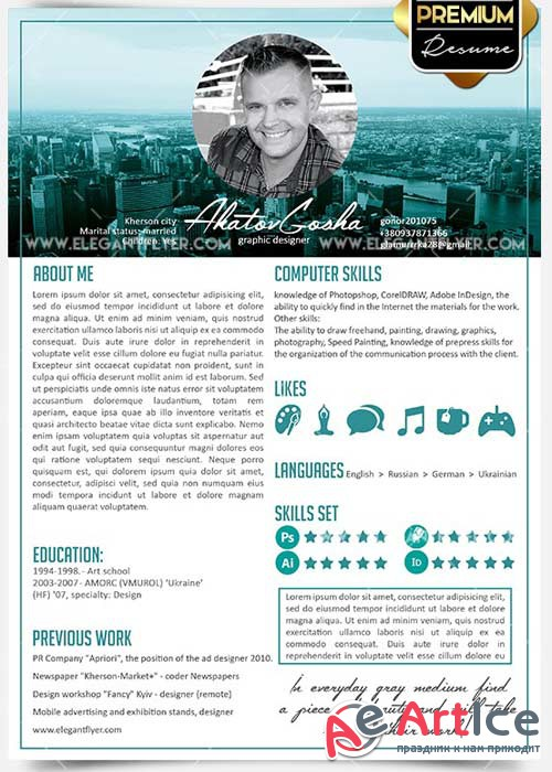 Resume CV PSD V03 Templates