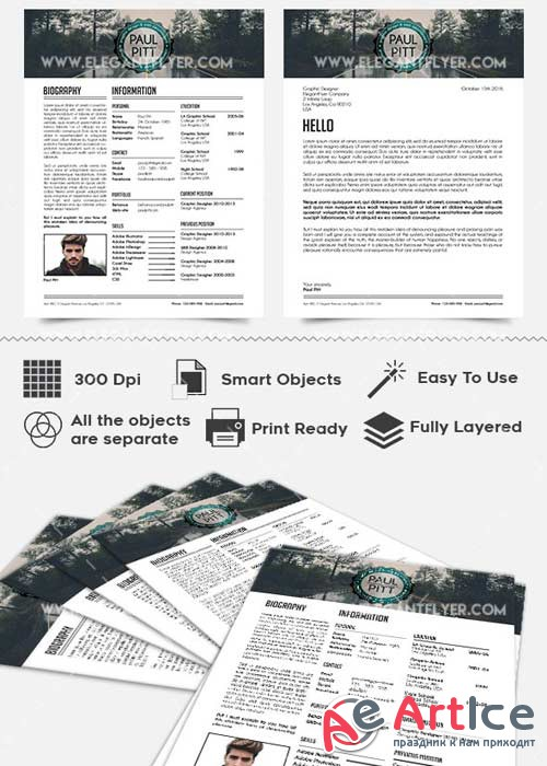 Job Resume CV PSD V13 Templates