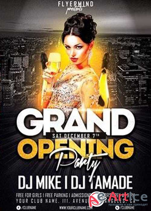 Grand Opening Party Flyer PSD V19 Template