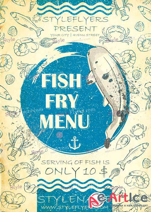 Fish Fry Menu PSD V12 Flyer Template