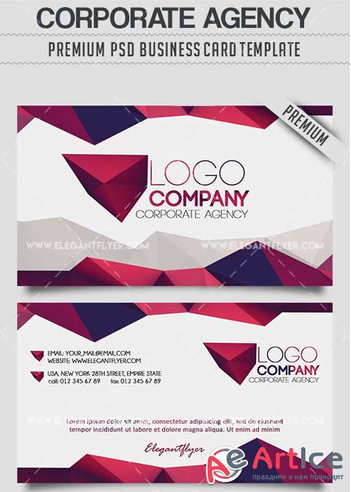 Corporate Agency PSD V3 Business Card Templates