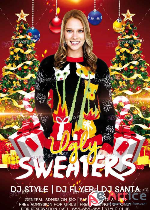 Ugly Sweaters PSD V7 Flyer Template