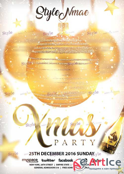 Xmas Party PSD V12 Flyer Template
