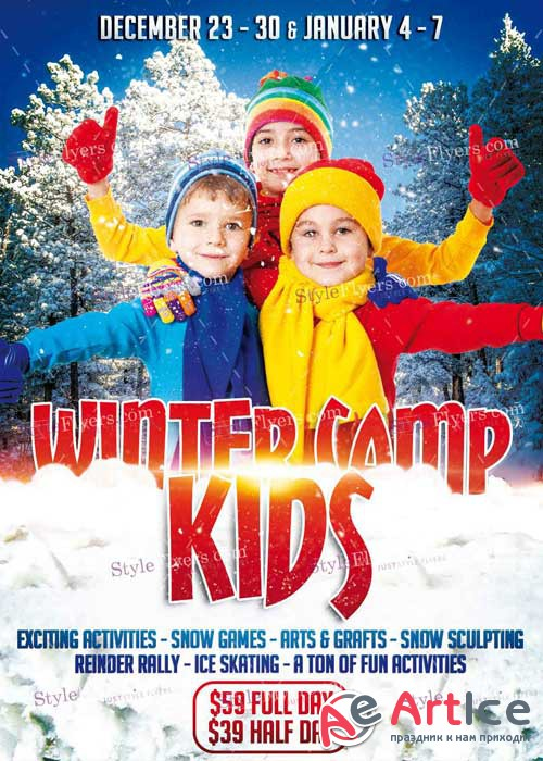Kids Winter Camp PSD V5 Flyer Template