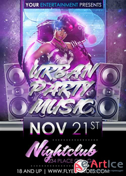 Urban Party Music V9 Flyer Template