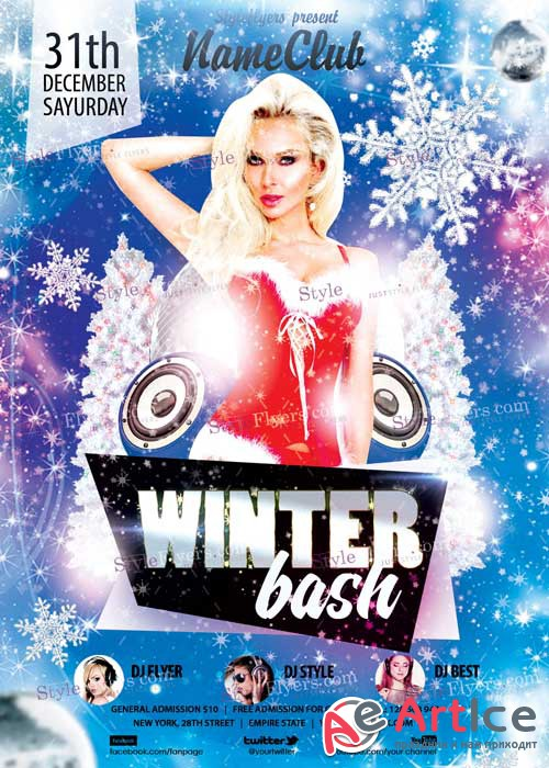 Winter Bash PSD V4 Flyer Template