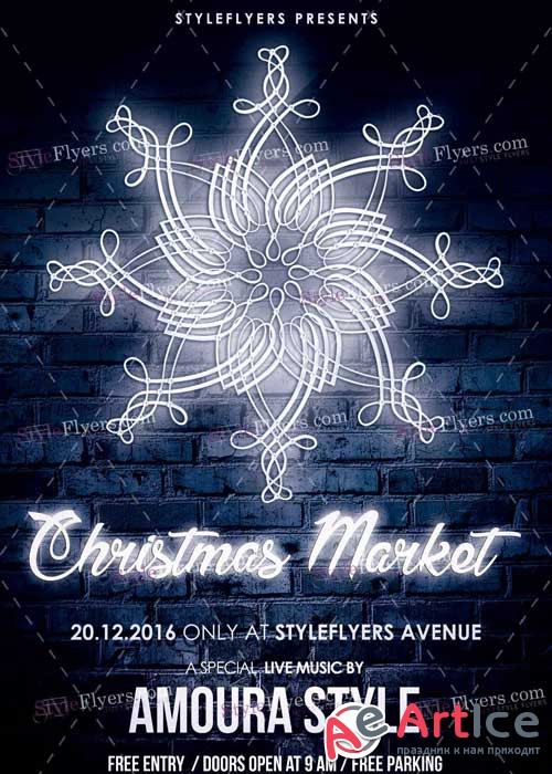 Christmas Market PSD V14 Flyer Template