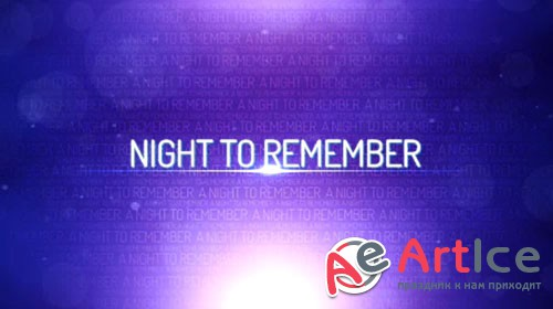 Night To Remember for Adobe After Effects