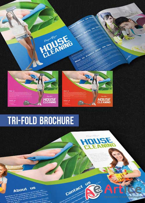 House Cleaning Brochure Pack PSD V1 Template