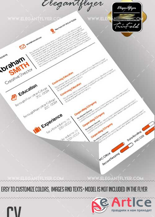 CV V6 CV and Cover Letter Template PSD