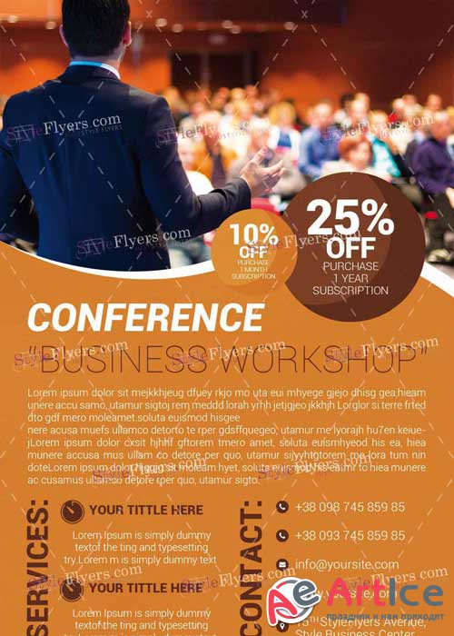 Conference V6 PSD Flyer Template