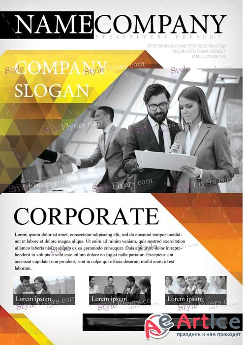 Corporate V11 PSD Flyer Template
