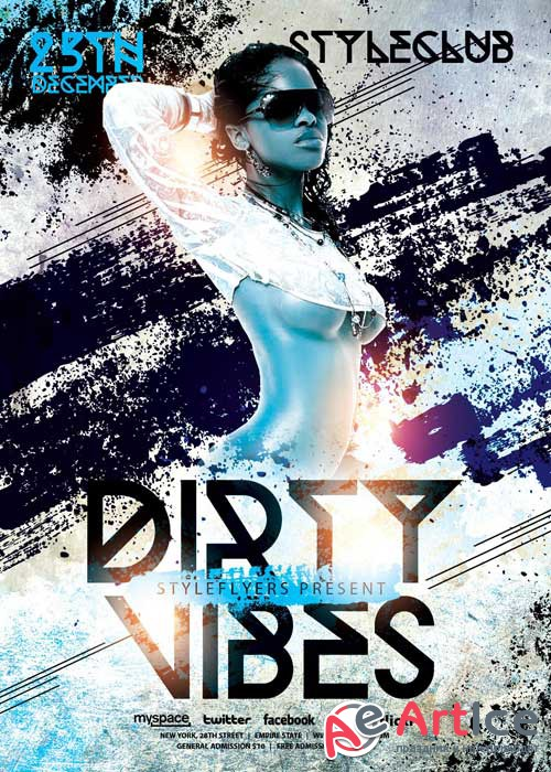 Dirty Vibes V5 PSD Flyer Template