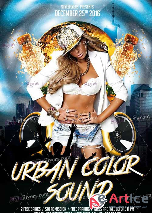 Urban Color Sound V7 PSD Flyer Template