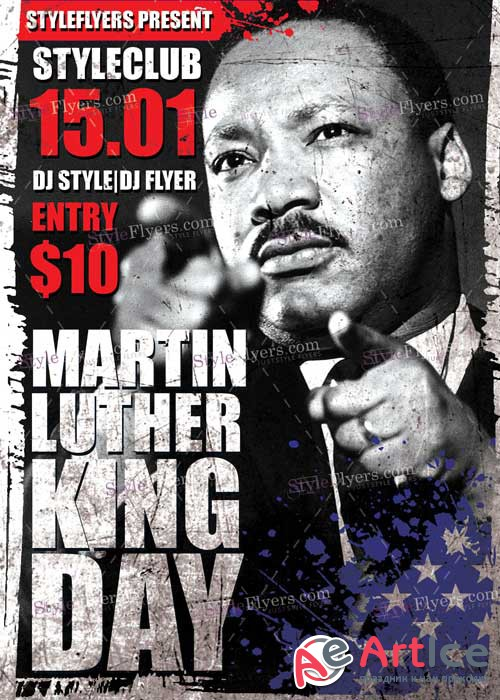 Martin Luther King Day V1 PSD Flyer Template
