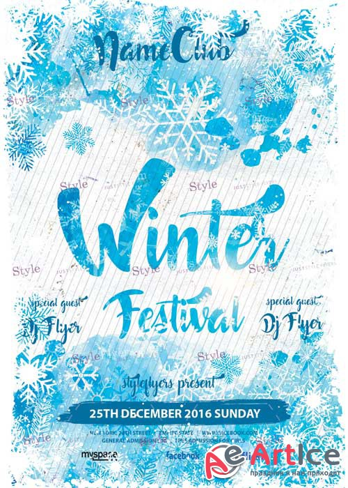 Winter Festival PSD V7 Flyer Template