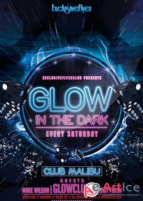 Glow Party PSD V10 Premium Flyer Template