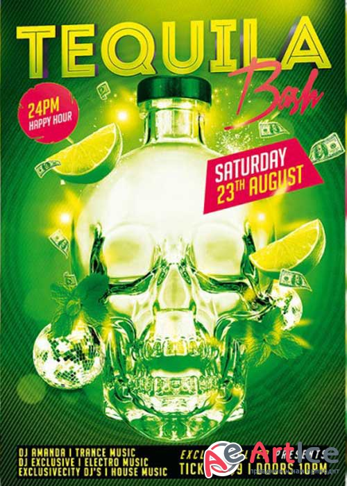 Tequila Bash PSD V5 Premium Flyer Template + Facebook Cover