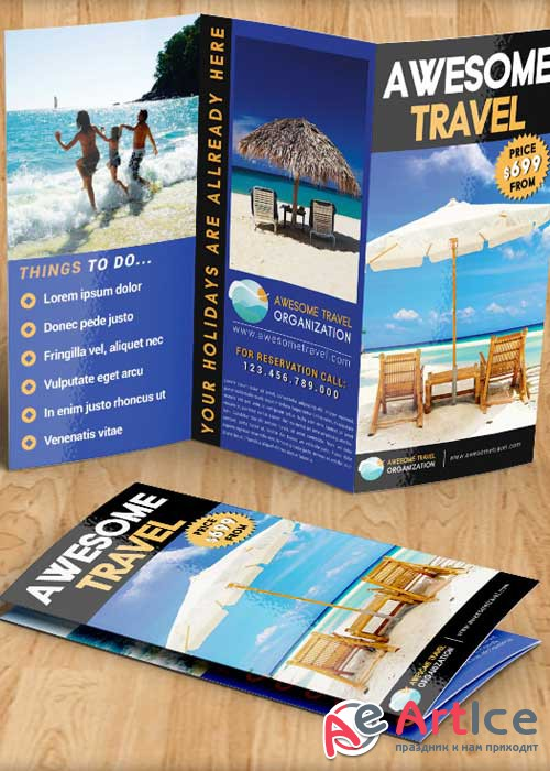 Travel Agency Brochure PSD V7 Template