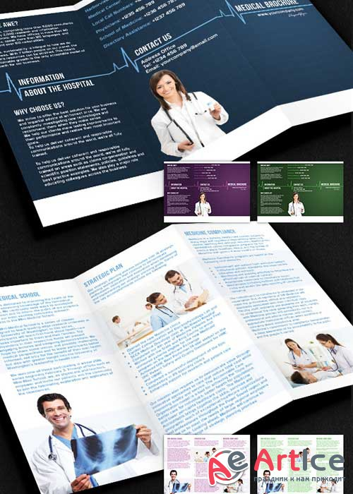 Medical Brochure Pack PSD V5 Template